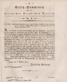 Gesetz-Sammlung für die Königlichen Preussischen Staaten, 3. Februar 1845, nr. 4.