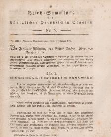 Gesetz-Sammlung für die Königlichen Preussischen Staaten, 10. Februar 1845, nr. 5.