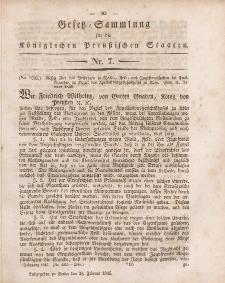 Gesetz-Sammlung für die Königlichen Preussischen Staaten, 28. Februar 1845, nr. 7.