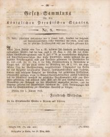 Gesetz-Sammlung für die Königlichen Preussischen Staaten, 29. März 1845, nr. 8.