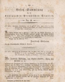 Gesetz-Sammlung für die Königlichen Preussischen Staaten, 19. April 1845, nr. 9.