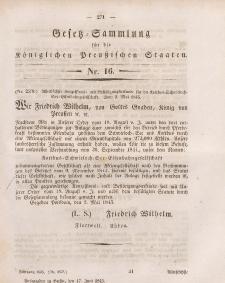 Gesetz-Sammlung für die Königlichen Preussischen Staaten, 17. Juni 1845, nr. 16.