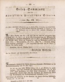 Gesetz-Sammlung für die Königlichen Preussischen Staaten, 5. Juli 1845, nr. 19.