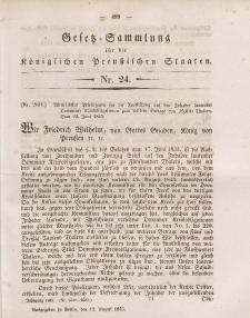 Gesetz-Sammlung für die Königlichen Preussischen Staaten, 12. August 1845, nr. 24.