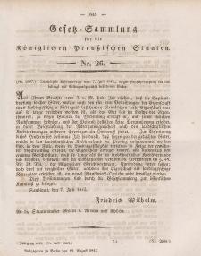 Gesetz-Sammlung für die Königlichen Preussischen Staaten, 19. August 1845, nr. 26.