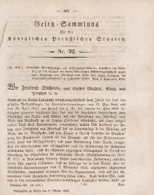 Gesetz-Sammlung für die Königlichen Preussischen Staaten, 9. Oktober 1845, nr. 32.