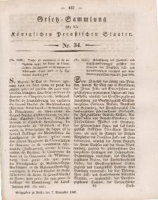 Gesetz-Sammlung für die Königlichen Preussischen Staaten, 7. November 1845, nr. 34.