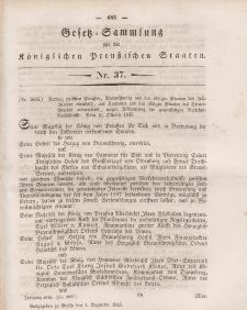 Gesetz-Sammlung für die Königlichen Preussischen Staaten, 1. Dezember 1845, nr. 37.