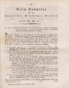 Gesetz-Sammlung für die Königlichen Preussischen Staaten, 29. Dezember 1845, nr. 42.
