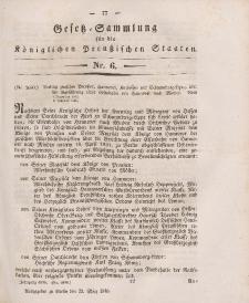 Gesetz-Sammlung für die Königlichen Preussischen Staaten, 23. März 1846, nr. 6.