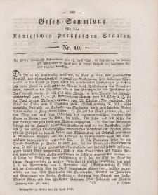 Gesetz-Sammlung für die Königlichen Preussischen Staaten, 18. April 1846, nr. 10.