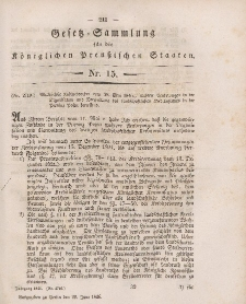 Gesetz-Sammlung für die Königlichen Preussischen Staaten, 20. Juni 1846, nr. 15.