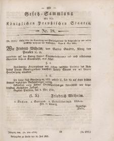 Gesetz-Sammlung für die Königlichen Preussischen Staaten, 16. Juli 1846, nr. 18.
