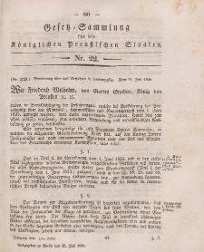 Gesetz-Sammlung für die Königlichen Preussischen Staaten, 25. Juli 1846, nr. 22.