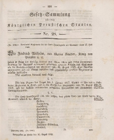 Gesetz-Sammlung für die Königlichen Preussischen Staaten, 26. August 1846, nr. 28.