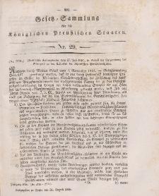 Gesetz-Sammlung für die Königlichen Preussischen Staaten, 31. August 1846, nr. 29.
