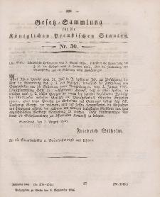 Gesetz-Sammlung für die Königlichen Preussischen Staaten, 9. September 1846, nr. 30.