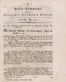 Gesetz-Sammlung für die Königlichen Preussischen Staaten, 28. September 1846, nr. 32.