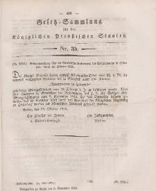 Gesetz-Sammlung für die Königlichen Preussischen Staaten, 5. November 1846, nr. 35.