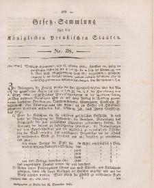 Gesetz-Sammlung für die Königlichen Preussischen Staaten, 25. November 1846, nr. 38.