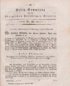 Gesetz-Sammlung für die Königlichen Preussischen Staaten, 3. Dezember 1846, nr. 40.