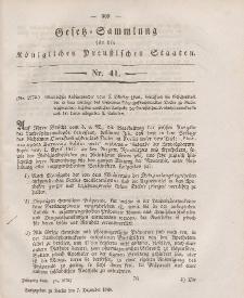 Gesetz-Sammlung für die Königlichen Preussischen Staaten, 7. Dezember 1846, nr. 41.