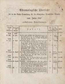 Gesetz-Sammlung für die Königlichen Preussischen Staaten (Chronologische Uebersicht), 1847