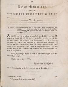 Gesetz-Sammlung für die Königlichen Preussischen Staaten, 10. Februar 1847, nr. 6.