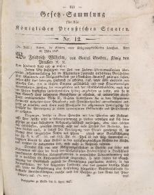 Gesetz-Sammlung für die Königlichen Preussischen Staaten, 9. April 1847, nr. 12.