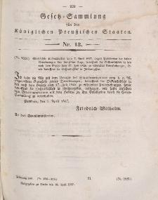 Gesetz-Sammlung für die Königlichen Preussischen Staaten, 10. April 1847, nr. 13.