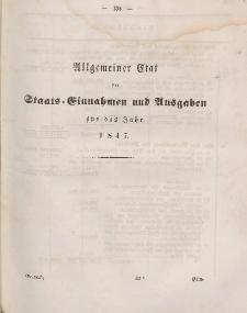 Gesetz-Sammlung für die Königlichen Preussischen Staaten (Allgemeiner Etat der Einnahmen und Ausgaben), 1847