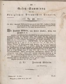 Gesetz-Sammlung für die Königlichen Preussischen Staaten, 4. Juni 1847, nr. 21.