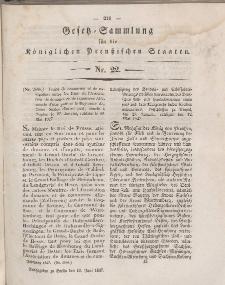 Gesetz-Sammlung für die Königlichen Preussischen Staaten, 10. Juni 1847, nr. 22.