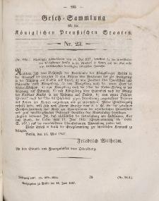 Gesetz-Sammlung für die Königlichen Preussischen Staaten, 14. Juni 1847, nr. 23.
