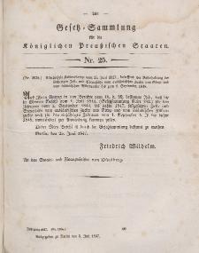 Gesetz-Sammlung für die Königlichen Preussischen Staaten, 5. Juli 1847, nr. 25.