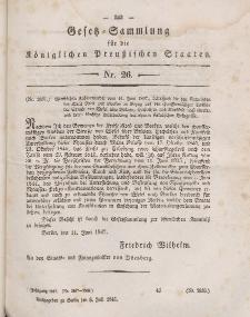 Gesetz-Sammlung für die Königlichen Preussischen Staaten, 8. Juli 1847, nr. 26.