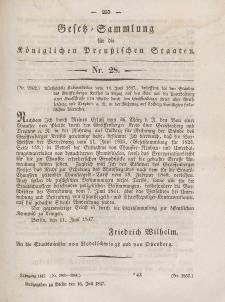 Gesetz-Sammlung für die Königlichen Preussischen Staaten, 16. Juli 1847, nr. 28.