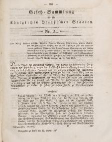 Gesetz-Sammlung für die Königlichen Preussischen Staaten, 12. August 1847, nr. 31.