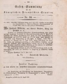 Gesetz-Sammlung für die Königlichen Preussischen Staaten, 20. August 1847, nr. 32.