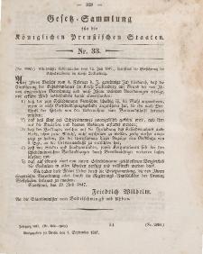 Gesetz-Sammlung für die Königlichen Preussischen Staaten, 1. September 1847, nr. 33.
