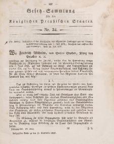 Gesetz-Sammlung für die Königlichen Preussischen Staaten, 11. September 1847, nr. 34.