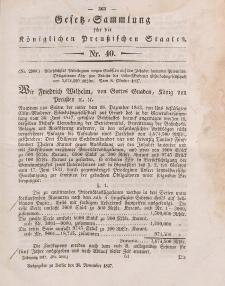 Gesetz-Sammlung für die Königlichen Preussischen Staaten, 20. November 1847, nr. 40.