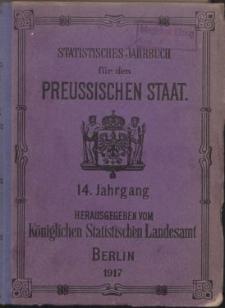 Statistisches Jahrbuch für den Preussischen Staat, 14. Jahrgang 1917