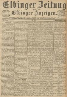 Elbinger Zeitung und Elbinger Anzeigen, Nr. 209 Freitag 07. September 1894