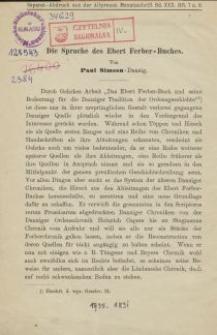 Die Sprache des Ebert Ferber-Buches