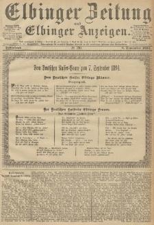 Elbinger Zeitung und Elbinger Anzeigen, Nr. 210 Sonnabend 08. September 1894
