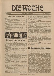 Die Woche : Moderne illustrierte Zeitschrift, 16. Jahrgang, 18. Juli 1914, Nr 29