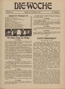 Die Woche : Moderne illustrierte Zeitschrift, 16. Jahrgang, 24. Oktober 1914, Nr 43