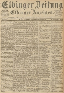 Elbinger Zeitung und Elbinger Anzeigen, Nr. 212 Sonntag 09. September 1894