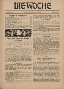 Die Woche : Moderne illustrierte Zeitschrift, 16. Jahrgang, 28. November 1914, Nr 48